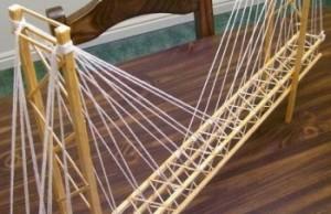 Toothpick Suspension Bridge