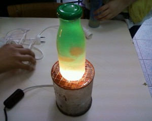 DIY Lava Lamp with Wax