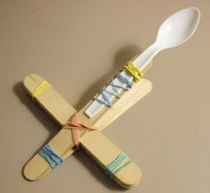Popsicle Stick Catapult With Spoon