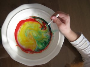 Milk and Food Coloring Experiment