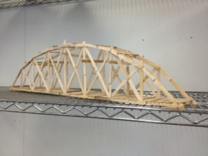 Popsicle Stick Arch Bridge