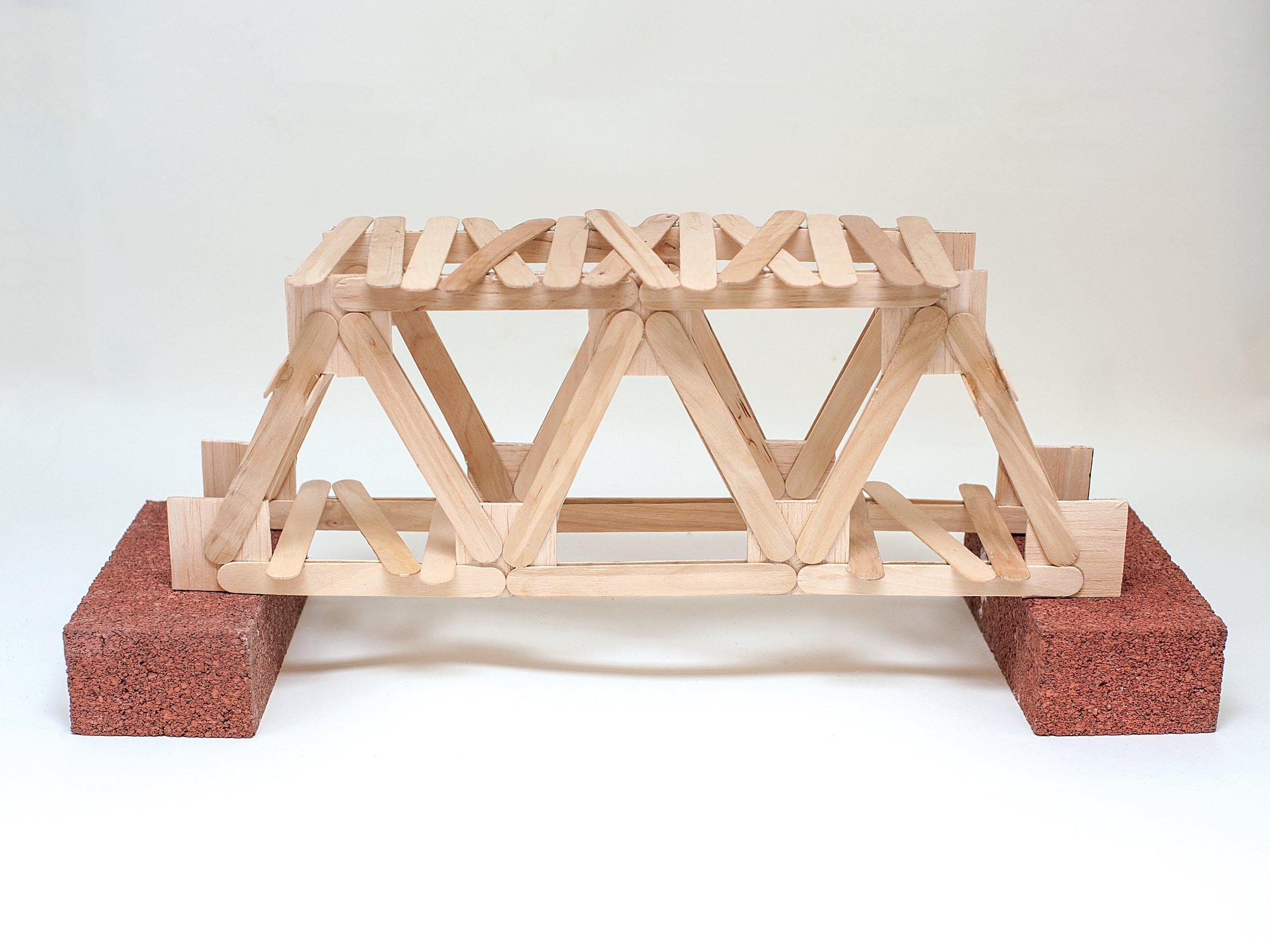 Popsicle Stick Bridge on 1st Grade Science Project Ideas