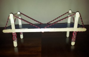 Popsicle Stick Suspension Bridge