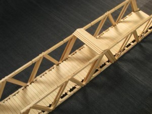 Popsicle Stick Truss Bridge